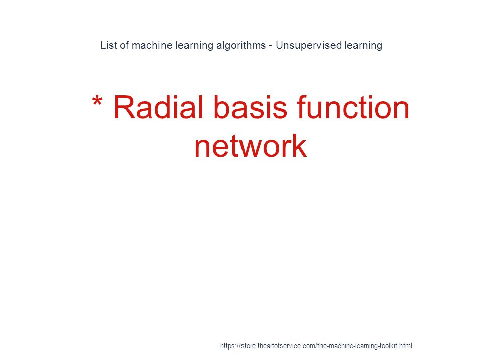 List of machine learning algorithms - Unsupervised learning