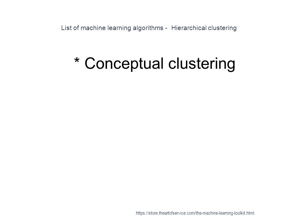 List of machine learning algorithms - Hierarchical clustering