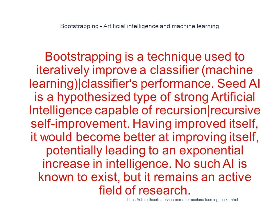 Bootstrapping - Artificial intelligence and machine learning