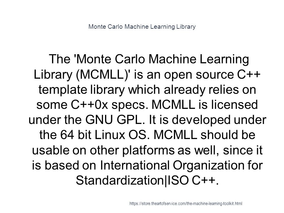 Monte Carlo Machine Learning Library