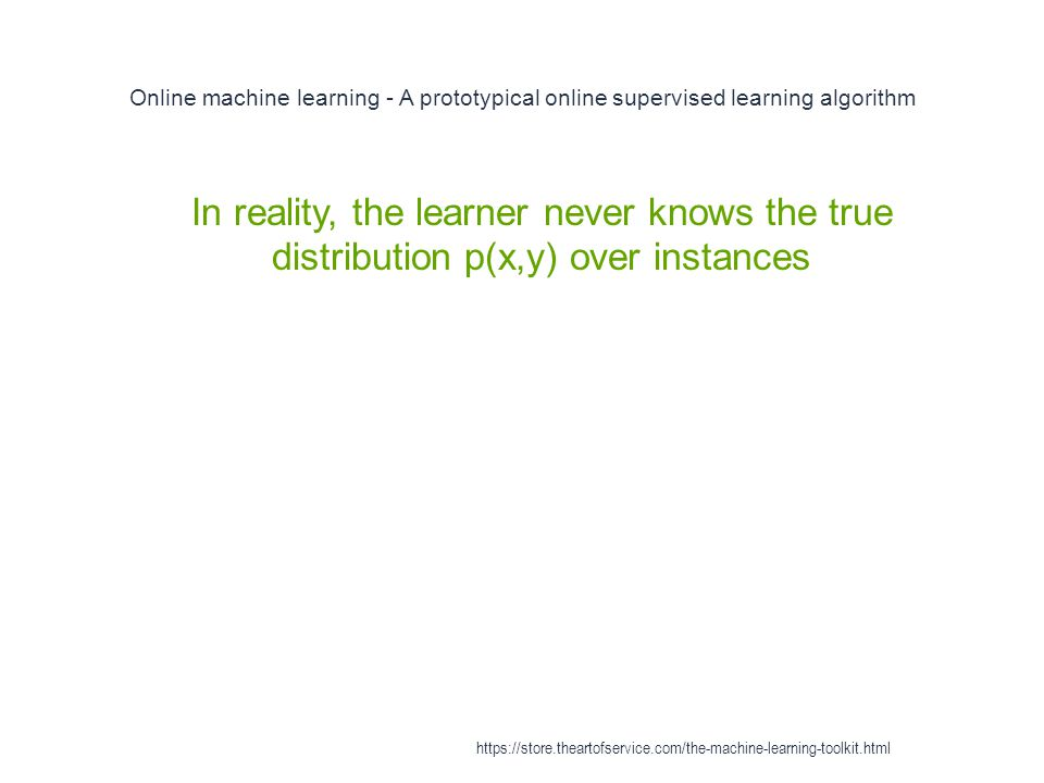 Online machine learning - A prototypical online supervised learning algorithm