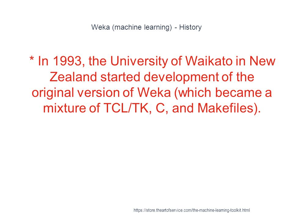 Weka (machine learning) - History