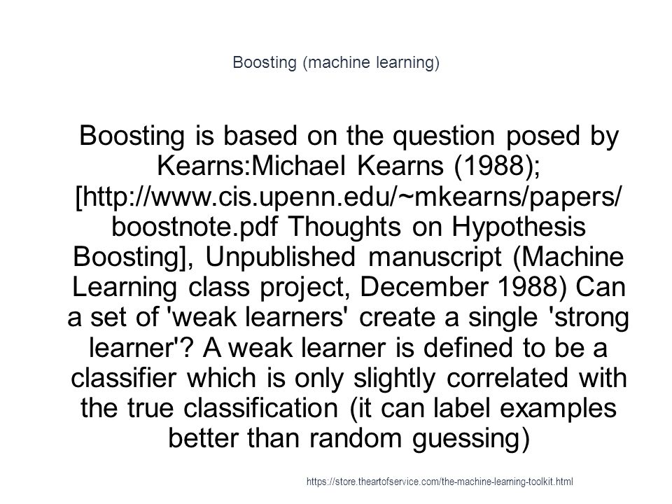 Boosting (machine learning)
