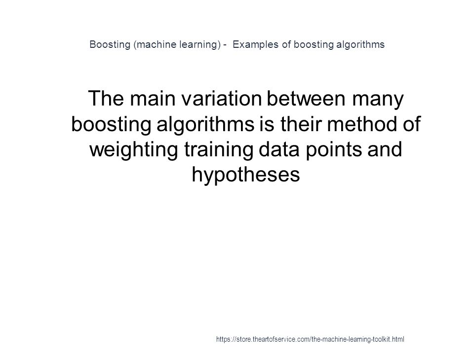 Boosting (machine learning) - Examples of boosting algorithms