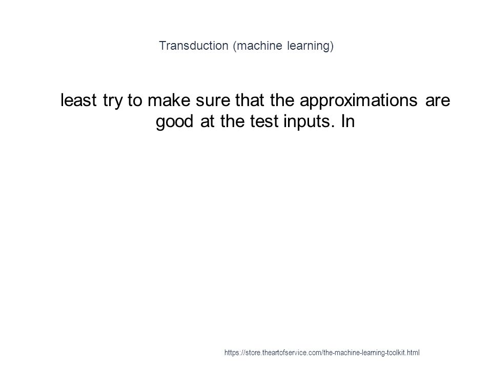 Transduction (machine learning)