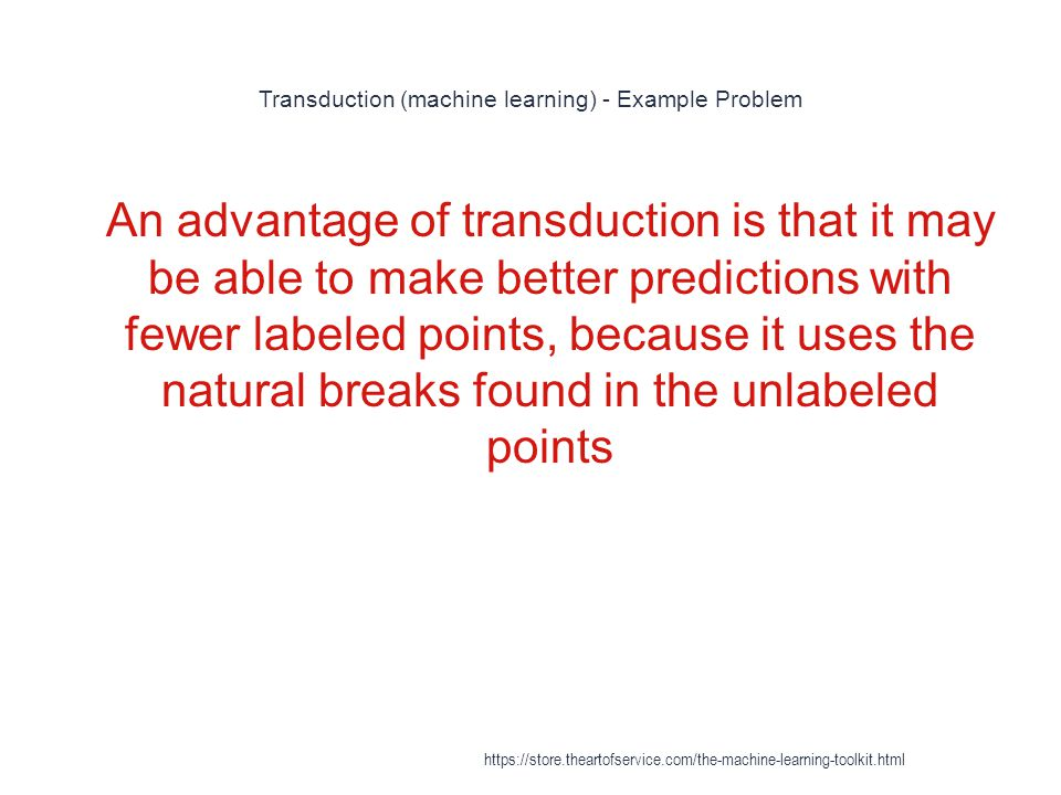 Transduction (machine learning) - Example Problem