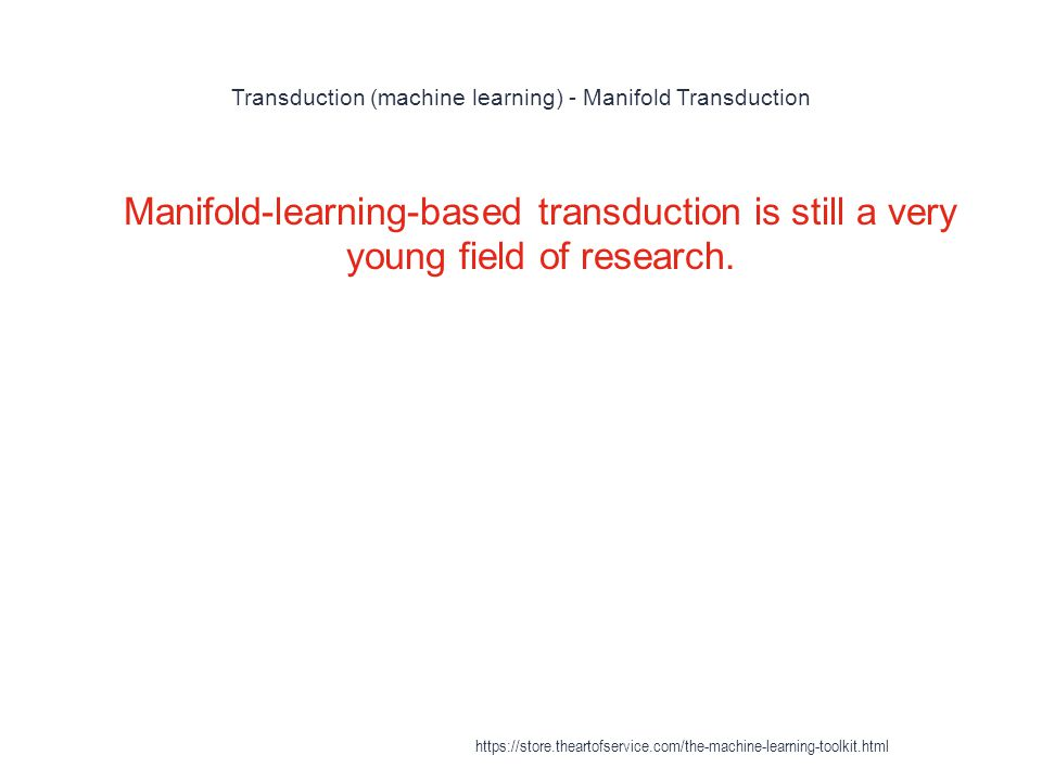 Transduction (machine learning) - Manifold Transduction