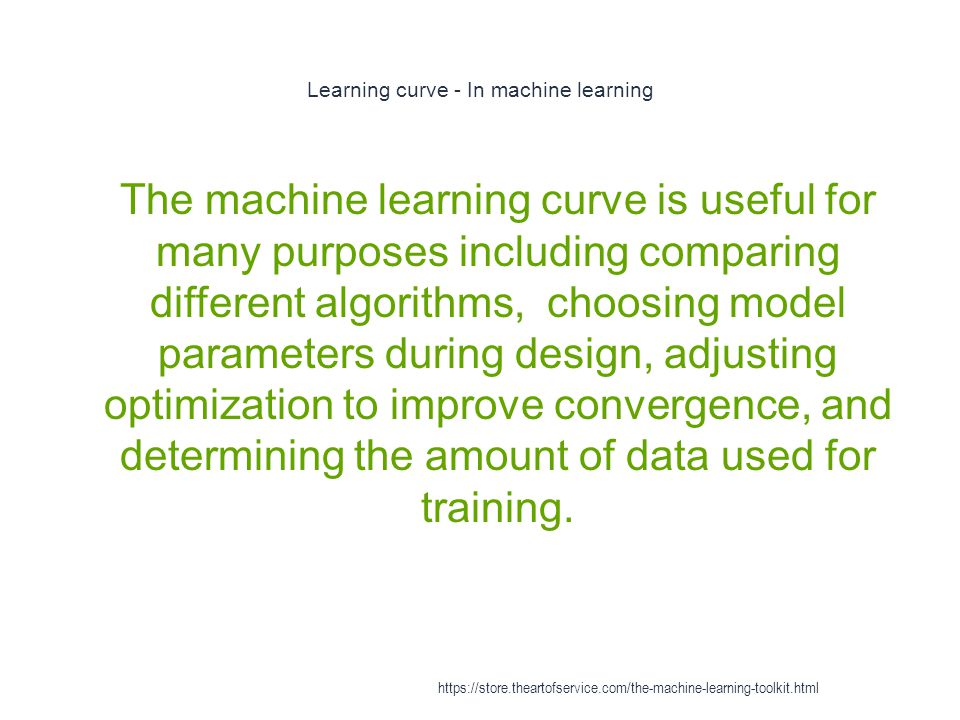 Learning curve - In machine learning