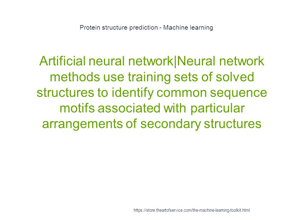 Protein structure prediction - Machine learning