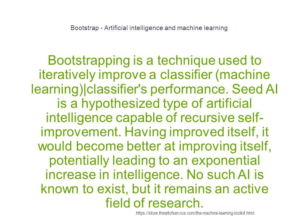 Bootstrap - Artificial intelligence and machine learning