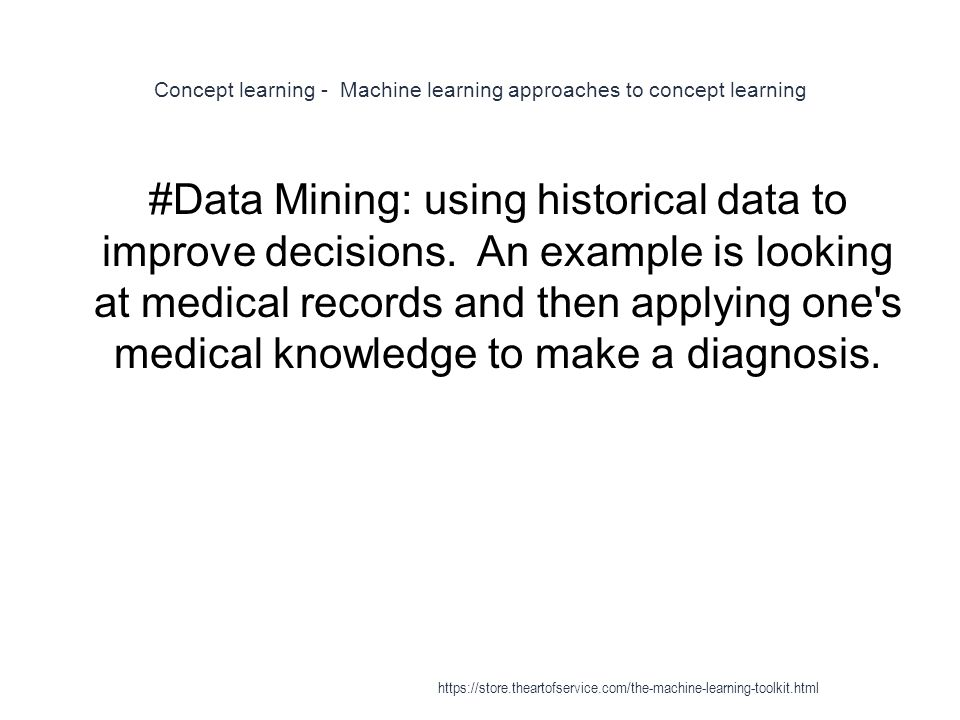 Concept learning - Machine learning approaches to concept learning