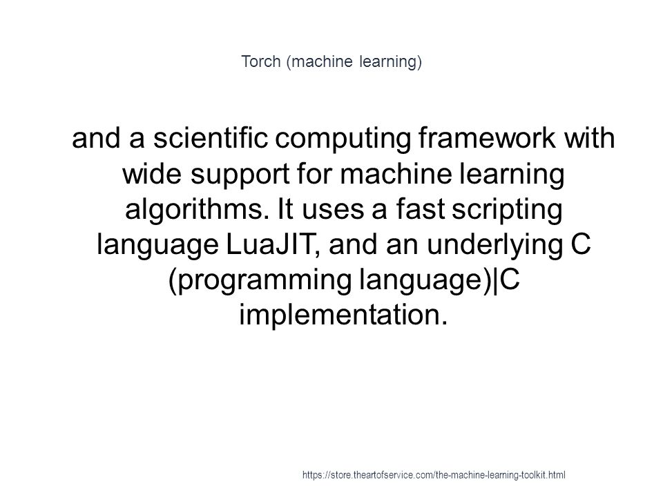 Torch (machine learning)