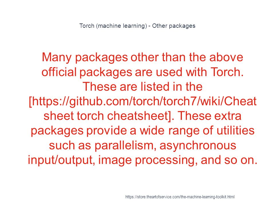 Torch (machine learning) - Other packages