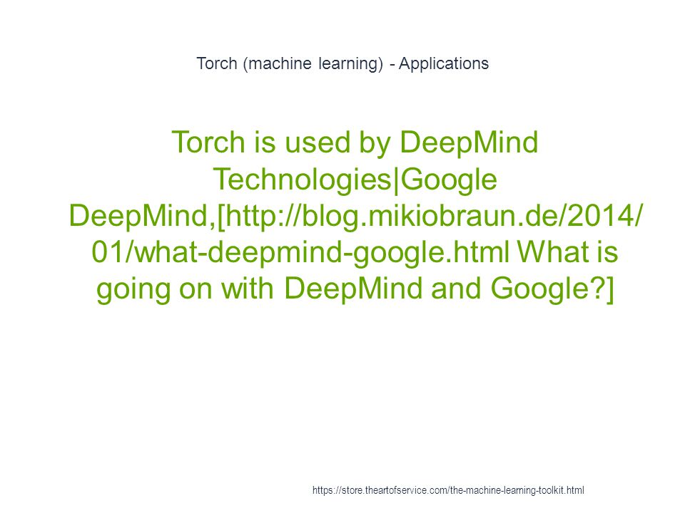 Torch (machine learning) - Applications