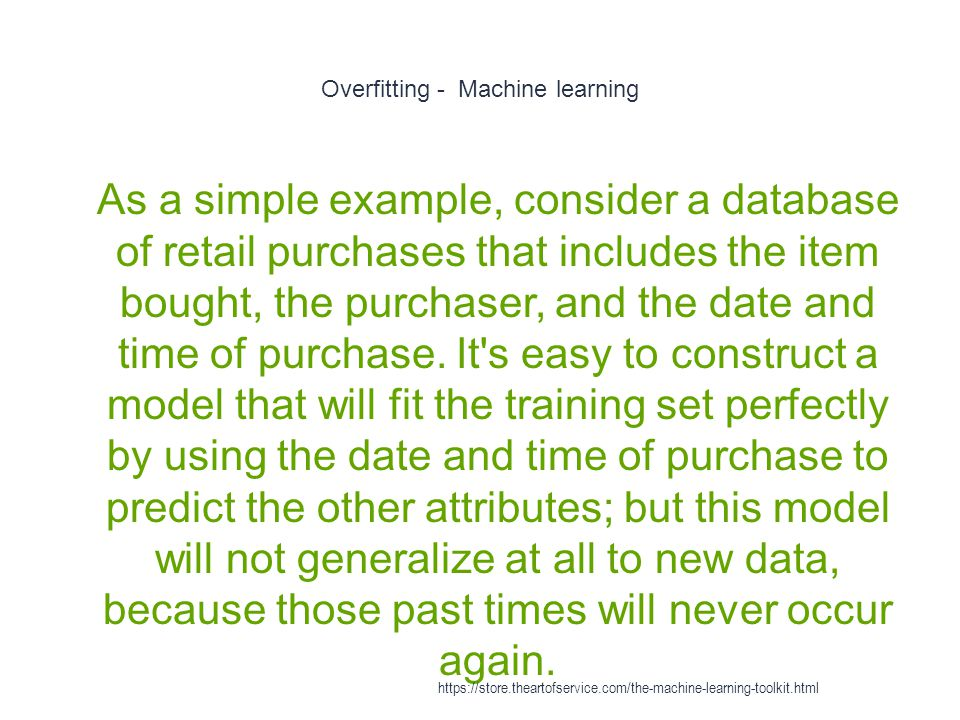 Overfitting - Machine learning