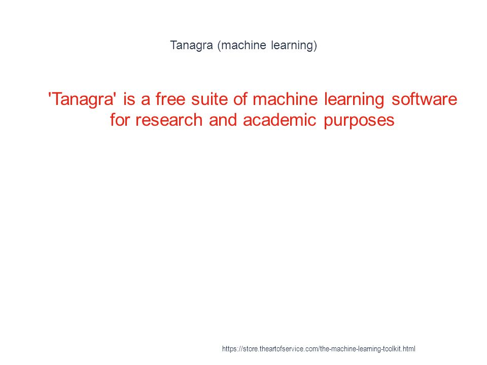 Tanagra (machine learning)