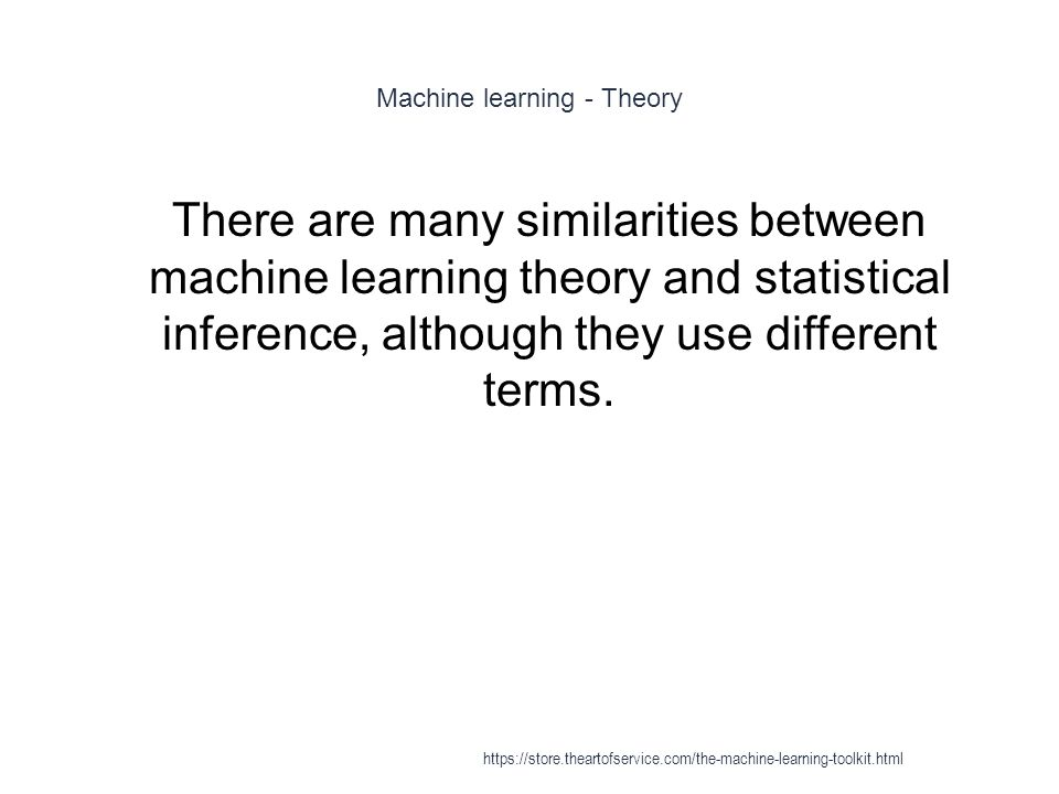Machine learning - Theory