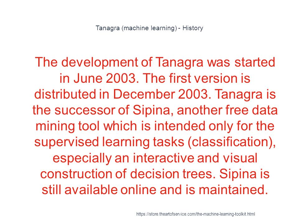 Tanagra (machine learning) - History