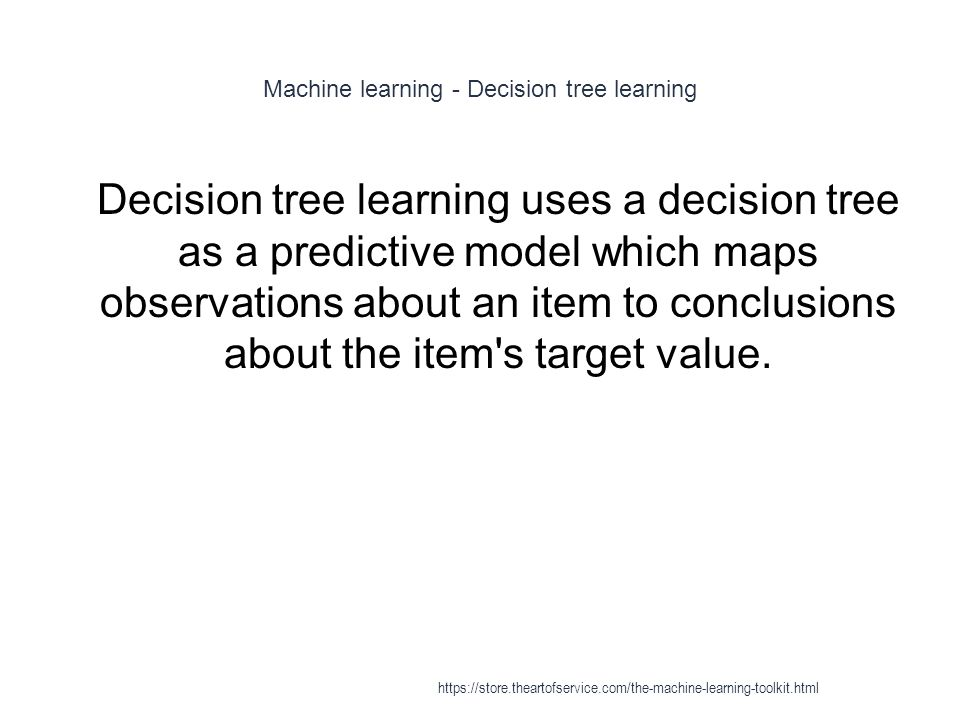 Machine learning - Decision tree learning