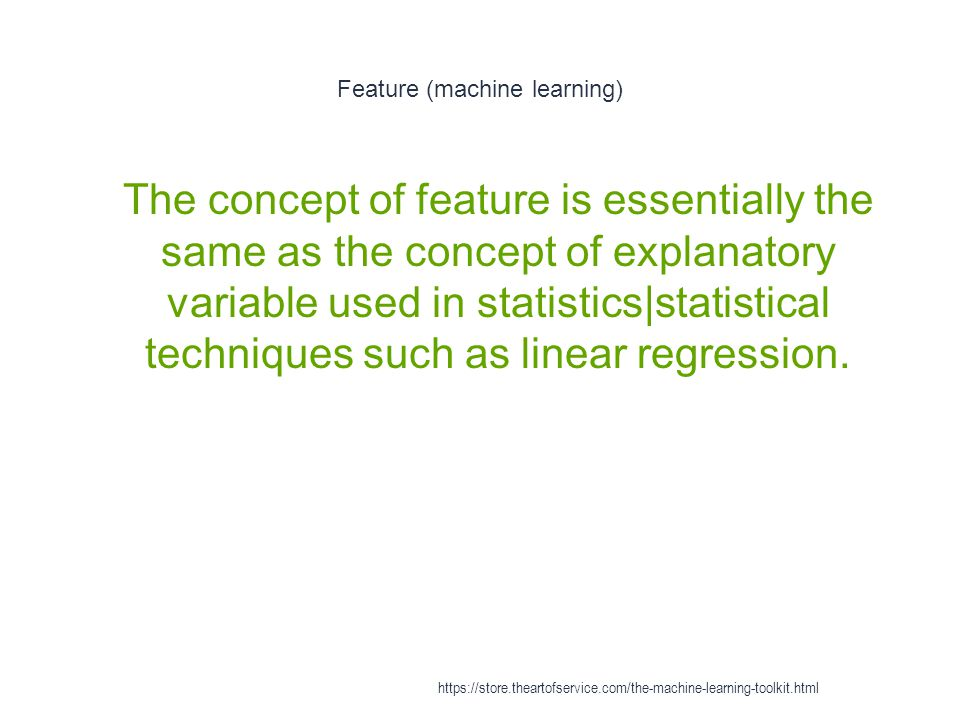 Feature (machine learning)