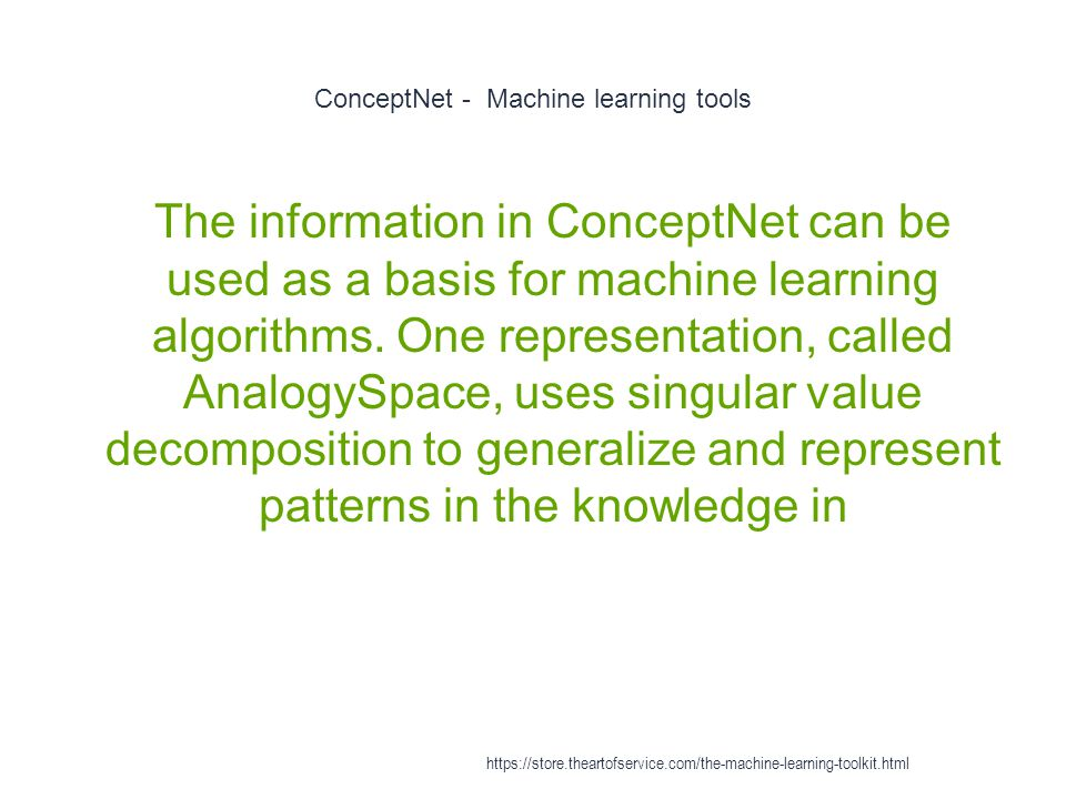 ConceptNet - Machine learning tools
