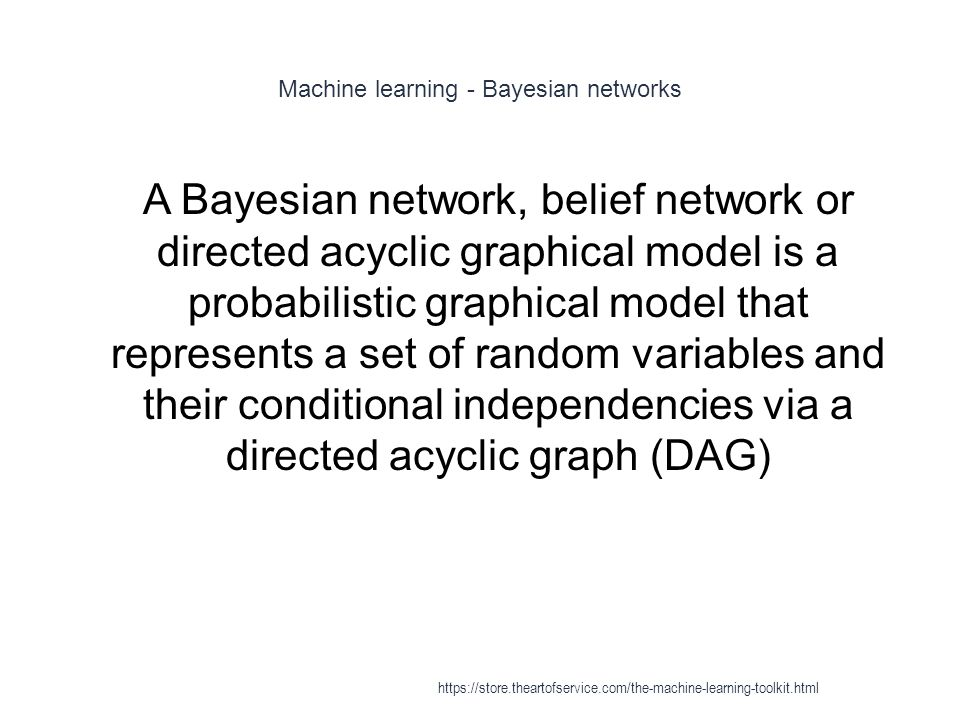 Machine learning - Bayesian networks