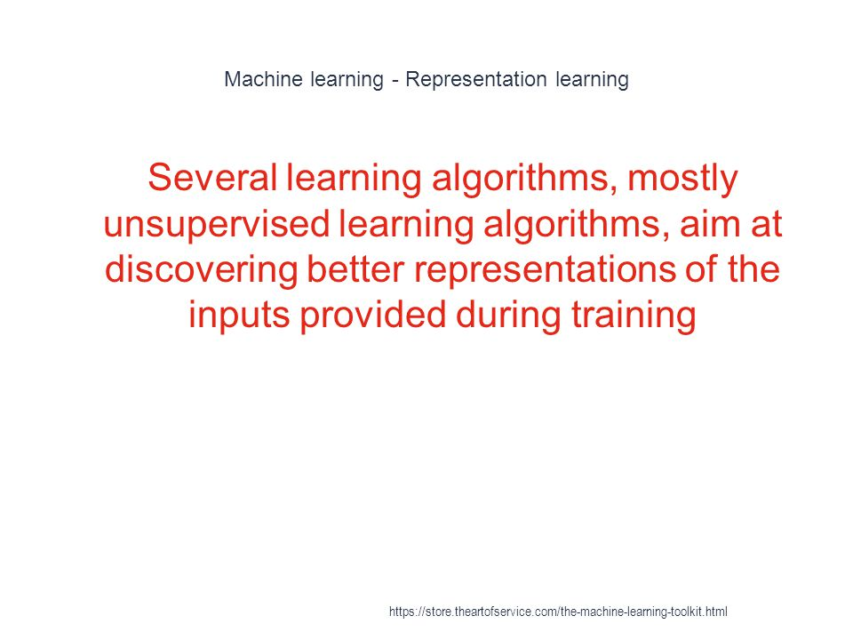 Machine learning - Representation learning