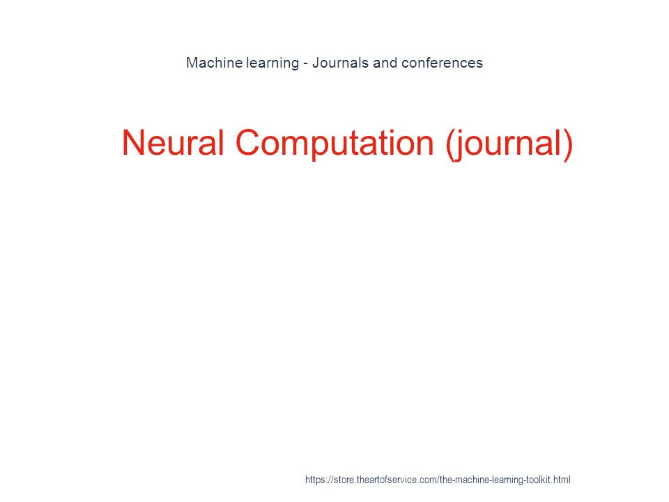 Machine learning - Journals and conferences