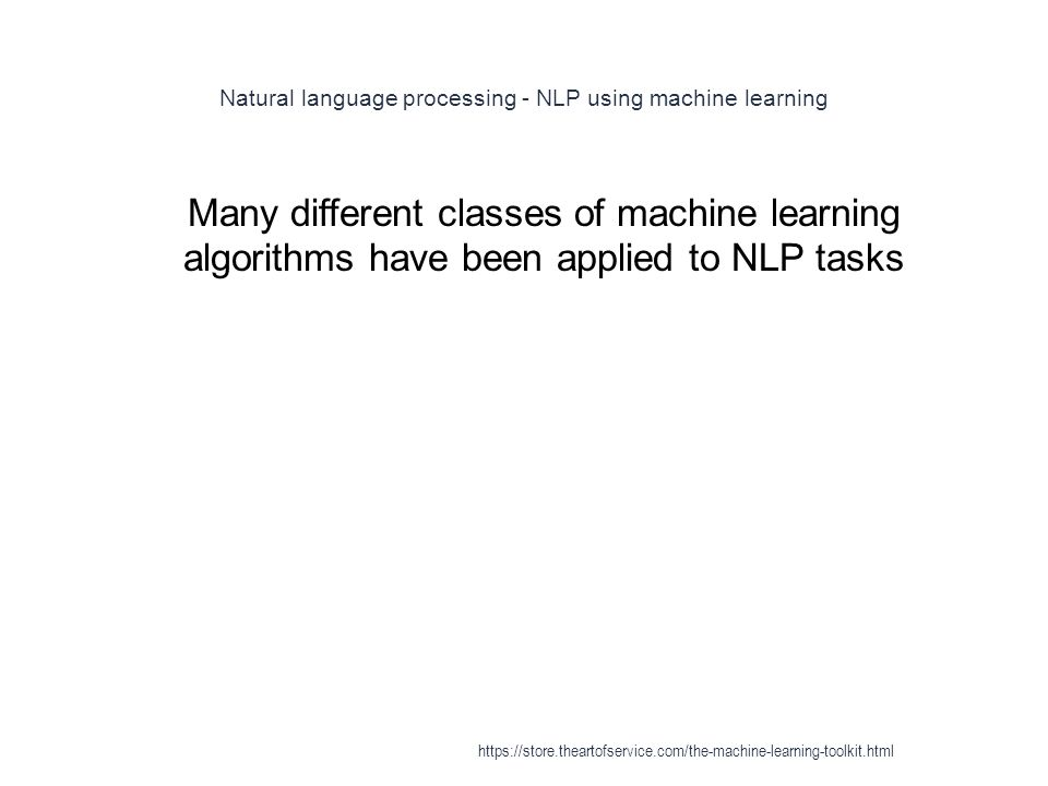 Natural language processing - NLP using machine learning
