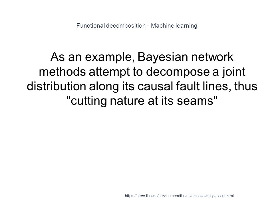 Functional decomposition - Machine learning