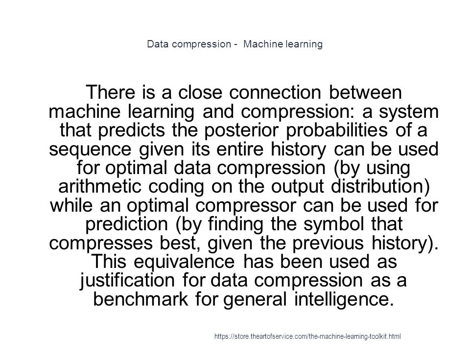 Data compression - Machine learning