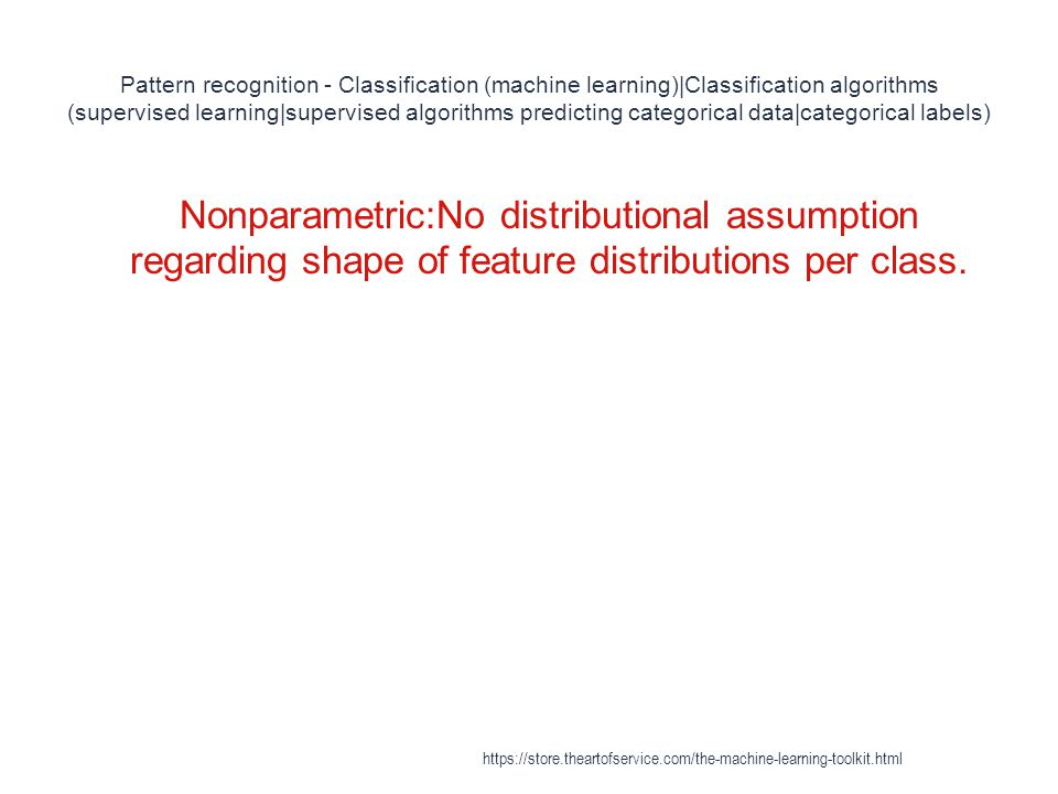Pattern recognition - Classification (machine learning)|Classification algorithms (supervised learning|supervised algorithms predicting categorical data|categorical labels)