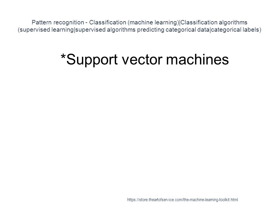 *Support vector machines