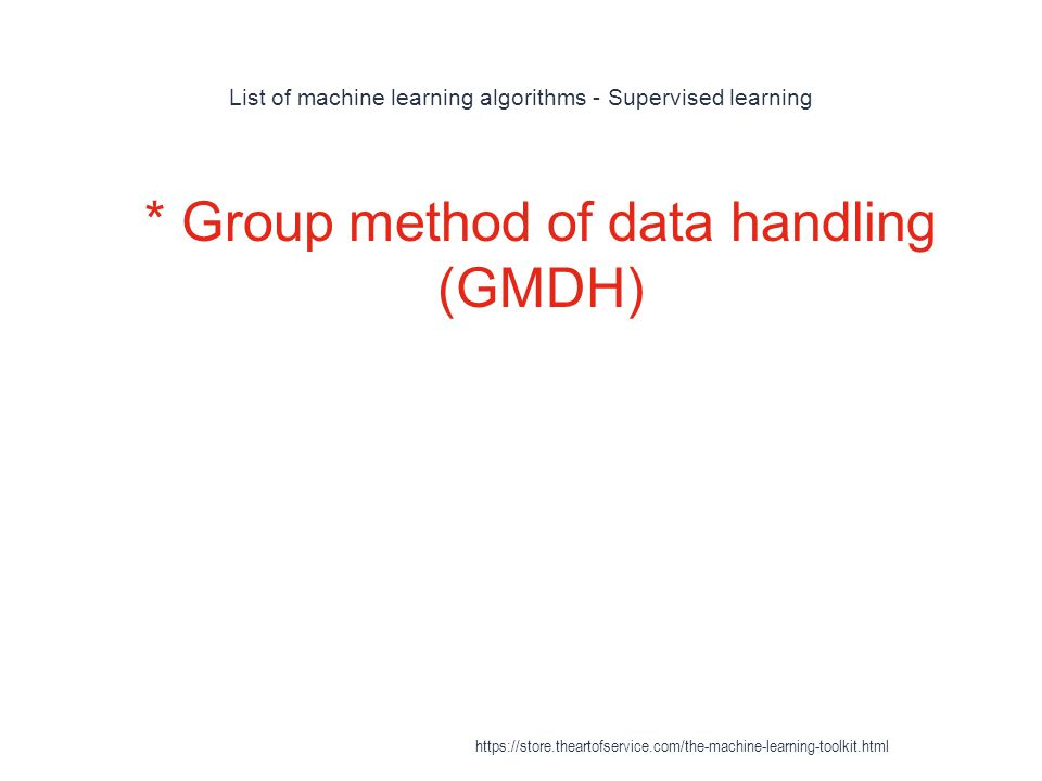 List of machine learning algorithms - Supervised learning