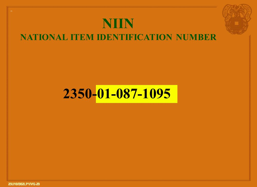 NATIONAL ITEM IDENTIFICATION NUMBER