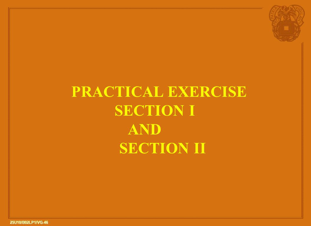 PRACTICAL EXERCISE SECTION I AND SECTION II