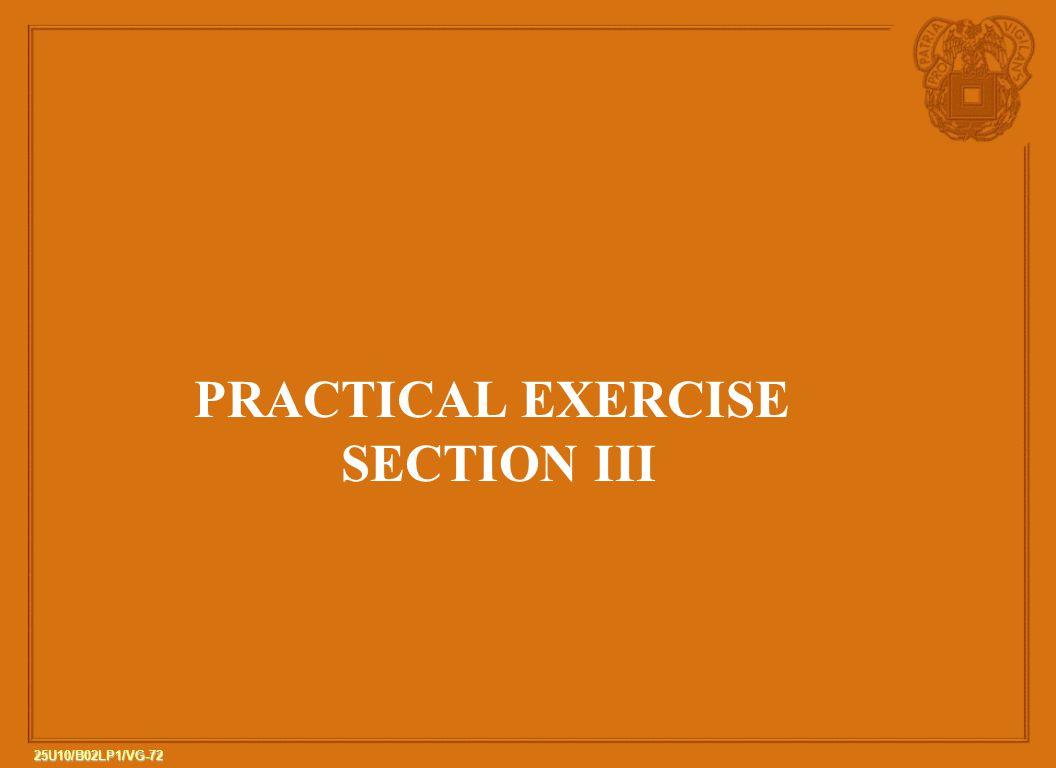 PRACTICAL EXERCISE SECTION III