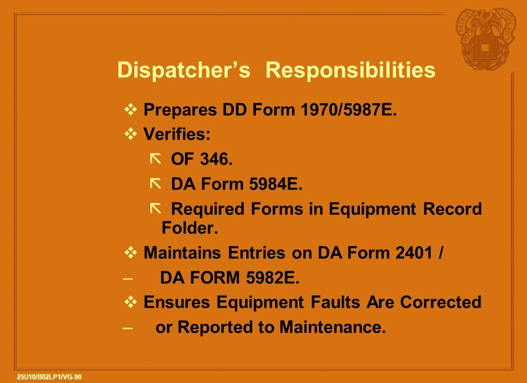 Dispatcher's Responsibilities