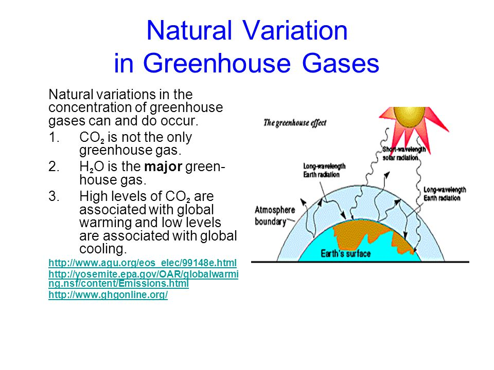 Natural Variation in Greenhouse Gases