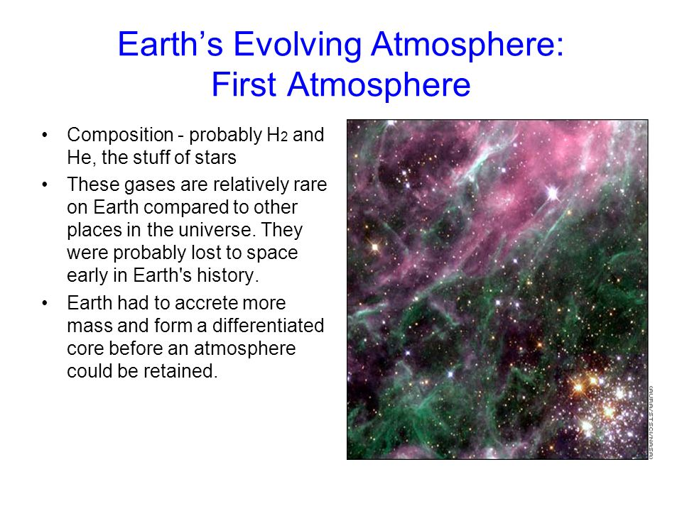 Earth's Evolving Atmosphere: First Atmosphere