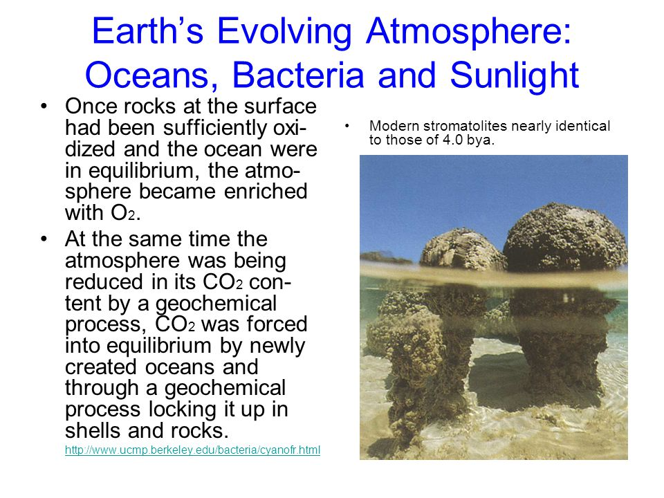 Earth's Evolving Atmosphere: Oceans, Bacteria and Sunlight