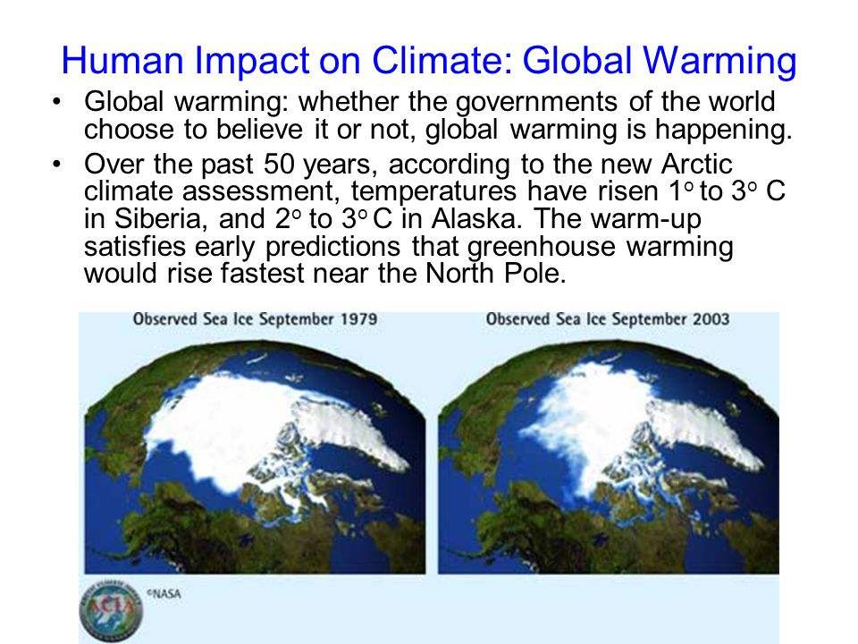 Human Impact on Climate: Global Warming
