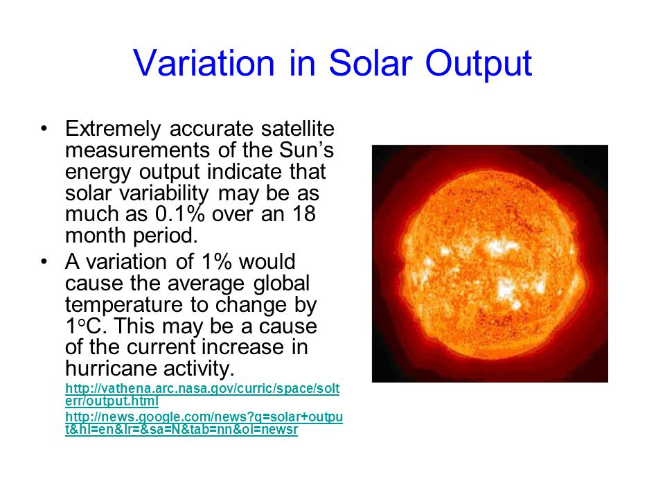 Variation in Solar Output