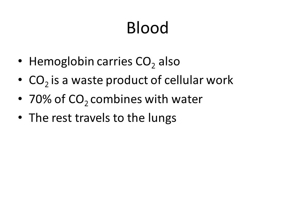 Blood Hemoglobin carries CO2 also