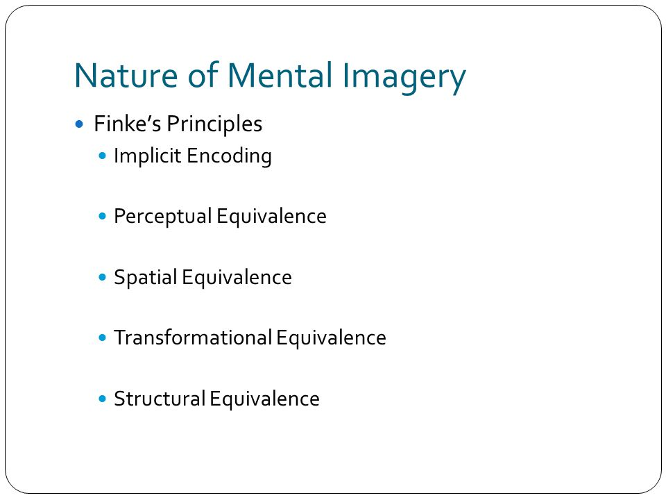 Nature of Mental Imagery