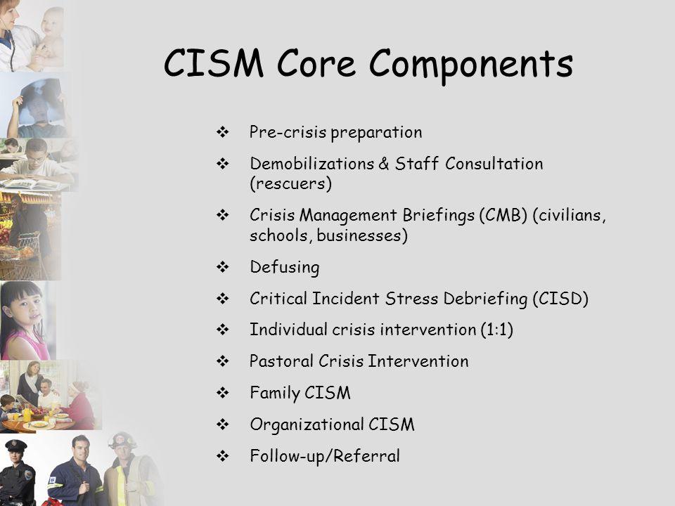 CISM Core Components Pre-crisis preparation