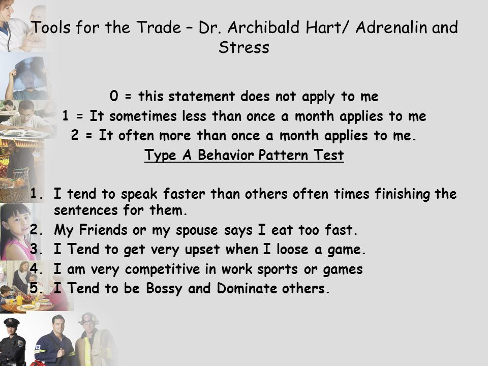 Tools for the Trade – Dr. Archibald Hart/ Adrenalin and Stress