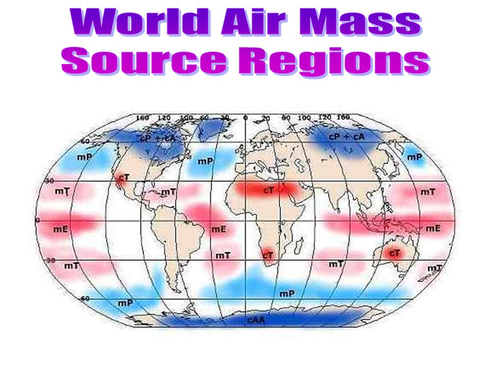 World Air Mass Source Regions