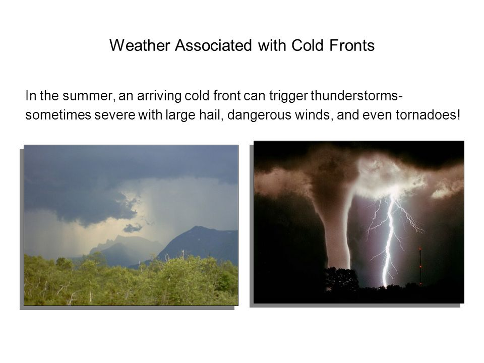 Weather Associated with Cold Fronts