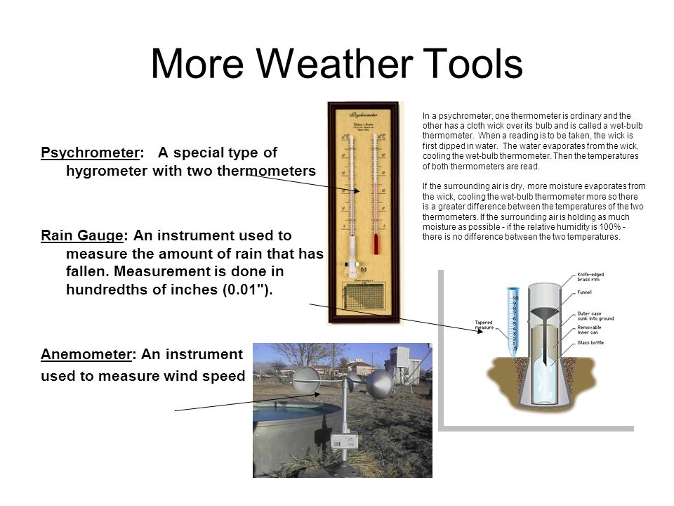 More Weather Tools